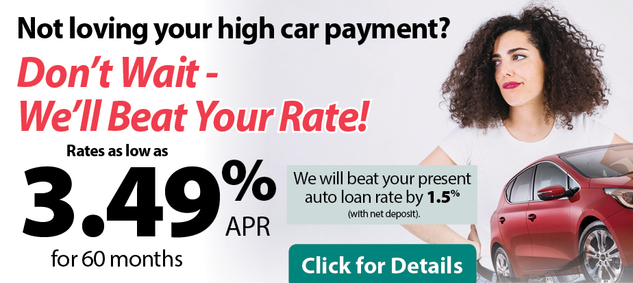 Not loving your high car payment? Don't Wait - We'll Beat Your Rate