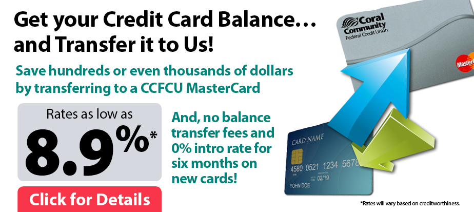 Get your Credit Card Balance and Transfer it to Us